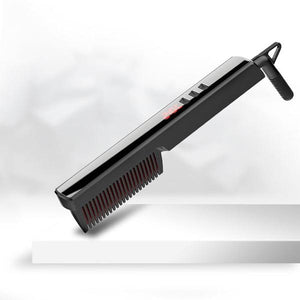 Hair straightening comb, hair straightening styler with LCD display / auto-off function - YLKgood