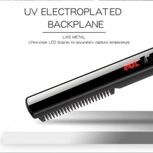 Load the picture into the gallery viewer, hair straightening comb, hair straightening styler with LCD display / auto-off function - YLKgood