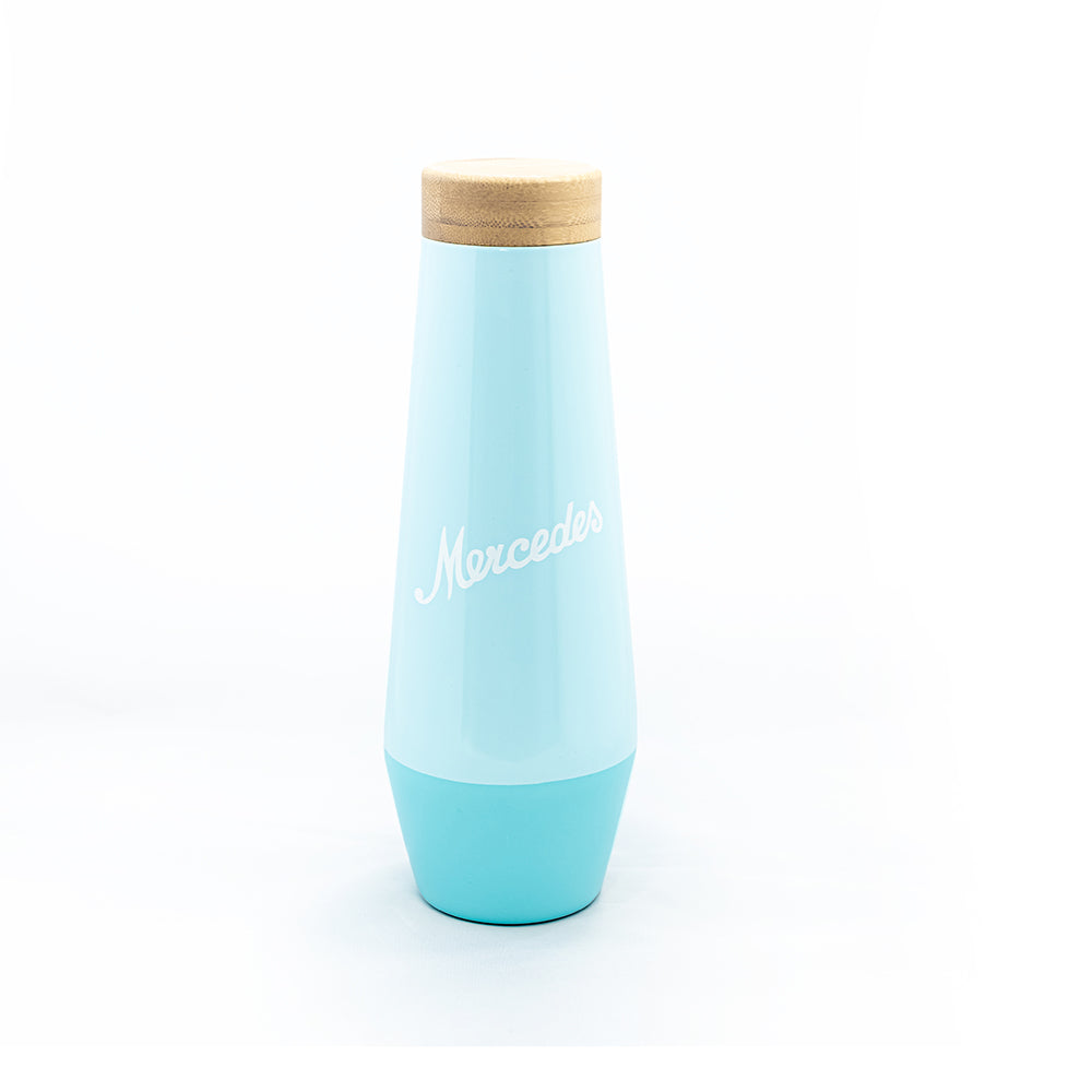 17oz Mercedes Thermal Bottle with Bamboo Lid