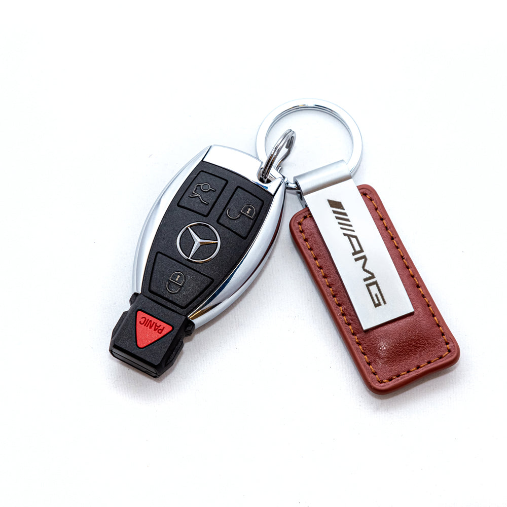 Mercedes-AMG Leather Keychain