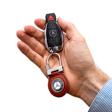 Mercedes-Benz Brown Leather Keychain