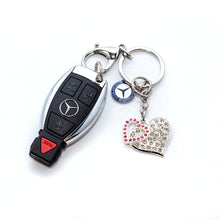 Mercedes-Benz Crystal Heart Keychain