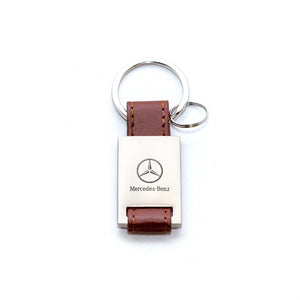 Mercedes-Benz Keychain with Leather Strap (Smaller)