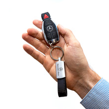 Mercedes-Benz Keychain with Leather Strap