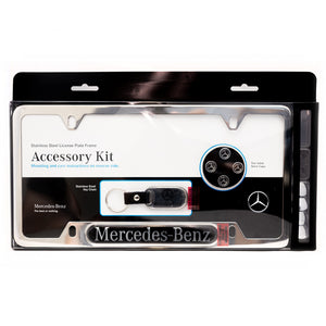 Stainless Steel Mercedes-Benz License Plate Frame Accessory Kit