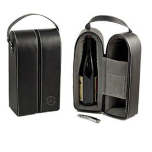 Mercedes-Benz Leather Wine Tote