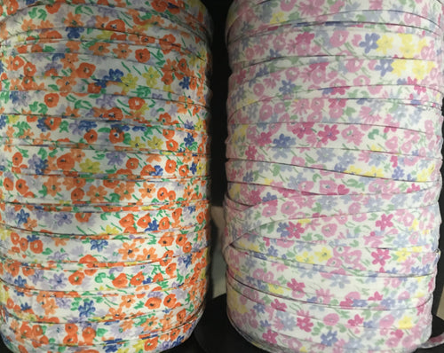 Floral Double Fold Bias Tape