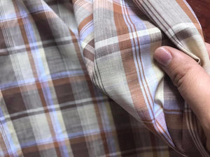 Warm Plaid Cotton Woven