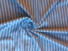 Load image into Gallery viewer, Blue Vertical Stripe Cotton Jersey