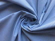 Load image into Gallery viewer, Blue Mini Vertical Stripe Chambray