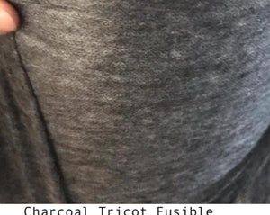Charcoal Tricot Fusible Interfacing