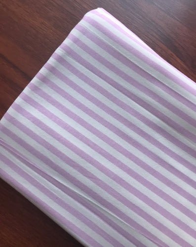Pink Ivory Vertical Stripe Cotton Spandex