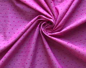 Pink Swiss Dot Cotton Woven