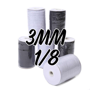 1/8 Braided Elastic 220Y Roll