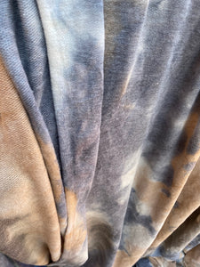 Grey Taupe Tan Tie Dye French Terry