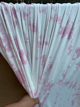 Load image into Gallery viewer, 3 yard cut Pink Ivory Marble Tie Dye Brushed Polyester Spandex