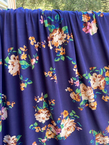 Laurel Floral Brushed Polyester