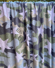 Load image into Gallery viewer, 1.5y cut Muted Camo Star Slubbed Rayon Jersey