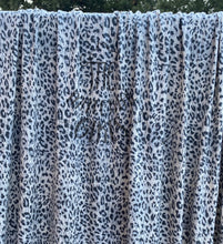 Load image into Gallery viewer, 2 yard cut Black Ivory Animal print poly rayon Jersey
