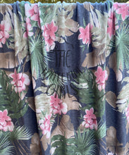 Load image into Gallery viewer, 2.5y cut Grey Tropical Floral French Terry
