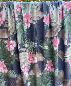 2.5y cut Grey Tropical Floral French Terry