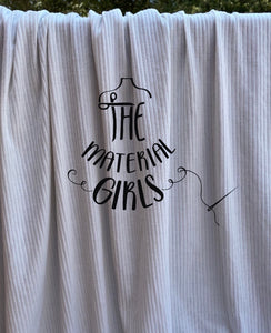 White Ribbed Knit