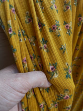 Load image into Gallery viewer, Butterscotch Dainty Floral Rib Knit 2x1