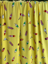 Load image into Gallery viewer, Yellow Popsicle Single Brushed Polyester Spandex