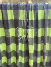 Load image into Gallery viewer, 2 yard cut Lime Green Checker French Terry