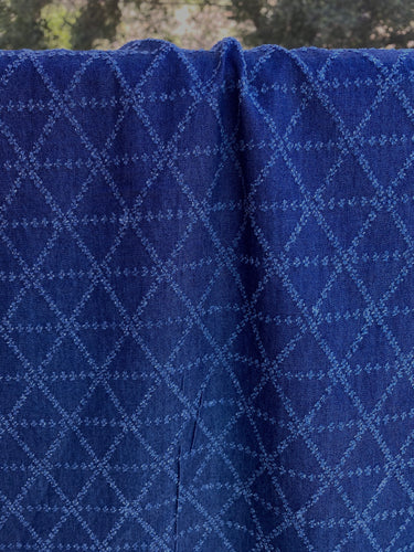 Perforated Geo Denim Woven