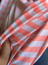 Load image into Gallery viewer, Peach/Coral Stripe Swim