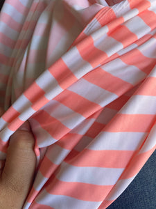 Peach/Coral Stripe Swim