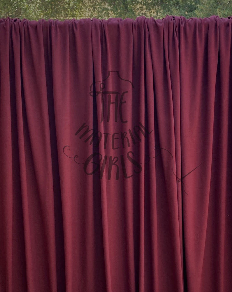 Burgundy Brushed Polyester Spandex