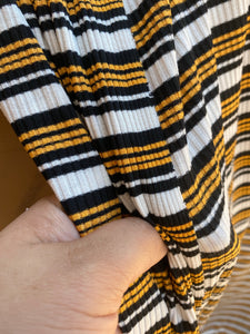 Marigold Stripe Ribbed Knit