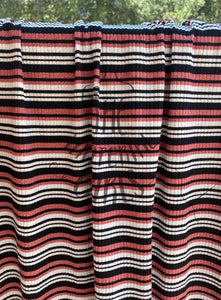 Rose Stripe Ribbed Knit