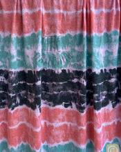 Load image into Gallery viewer, 1.5y cut Coral, Charcoal, and Teal Rayon Jersey