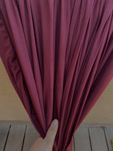 Load image into Gallery viewer, Burgundy Brushed Polyester Spandex