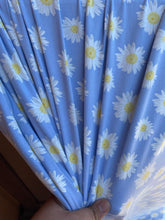 Load image into Gallery viewer, Blue Daisy Double Brushed Polyester Spandex