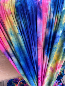Navy Rainbow Tie Dye Brushed DTY