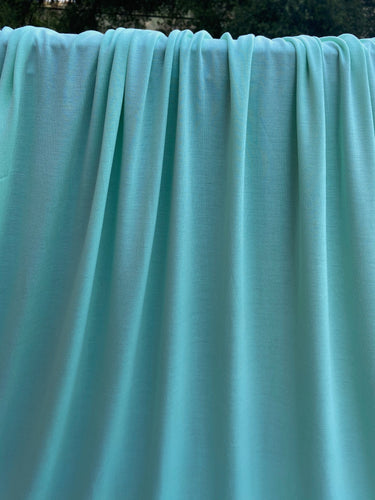 Mint Bamboo Lycra French Terry