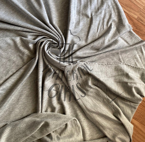 Heathered Grey Modal Spandex French terry