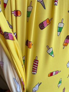 Yellow Popsicle Single Brushed Polyester Spandex