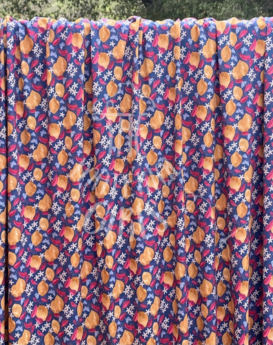 Lemons & Butterflies Marketa Stengl Double Brushed Polyester Spandex