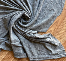 Load image into Gallery viewer, Heathered Grey Cotton Baby Ribbed