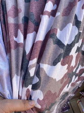 Load image into Gallery viewer, 2y cut Burgundy Camo French Terry