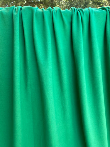 Kelly Green Cotton Spandex French Terry