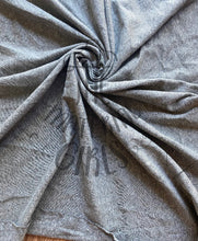 Load image into Gallery viewer, Heathered Grey Cotton Spandex Baby Ribbed