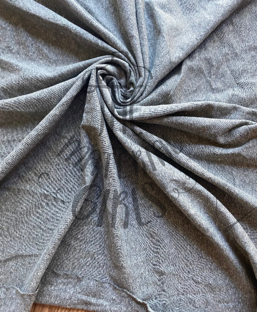 Heathered Grey Cotton Spandex Baby Ribbed