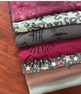 Burgundy, Mint, Charcoal Bundle