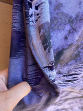 Load image into Gallery viewer, Purple Acid Washed Distressed Knit